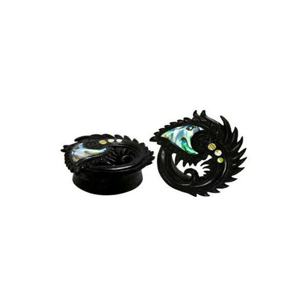 Peacock Plugs with an Abalone inlay
