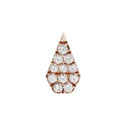 Rose gold couture CZ by Buddha Jewelry