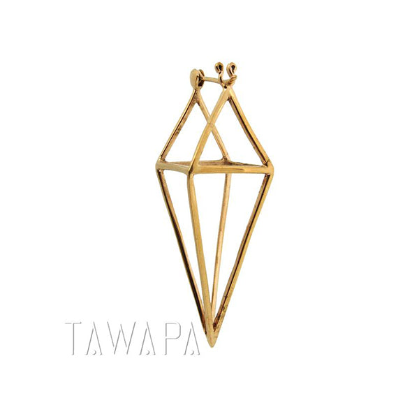 Tawapa Diamond Cube Plated Yellow Gold 16g