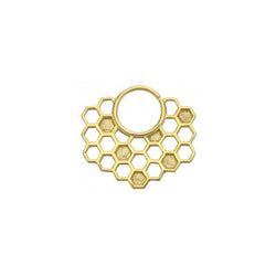 Buddha Plated Seam Ring Queen Bee 16g 3/8''