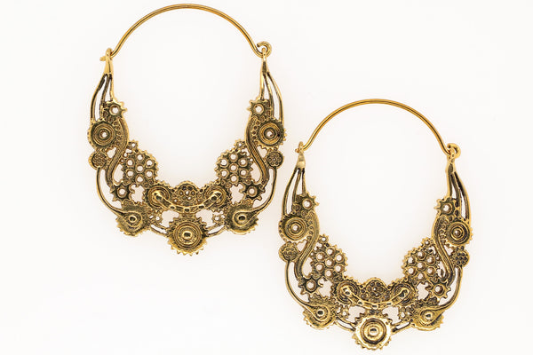 Brass steampunk earrings