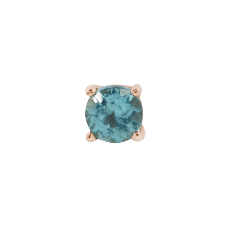 Rose gold Apatite prong by Buddha Jewelry
