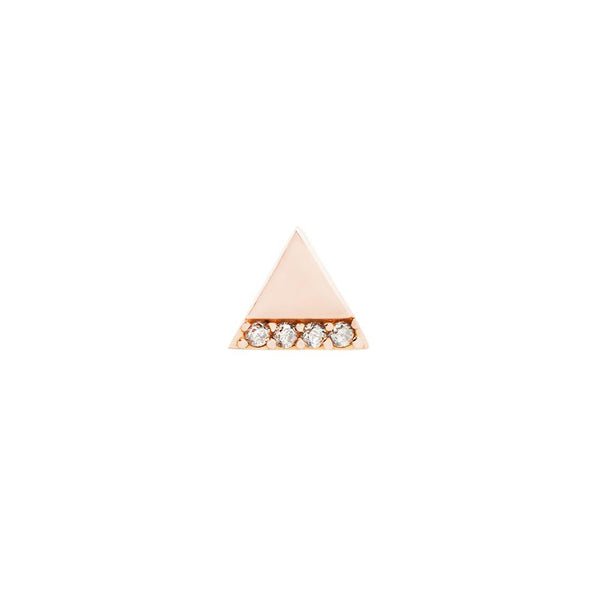 Buddha Threadless Love Triangle Genuine Diamond