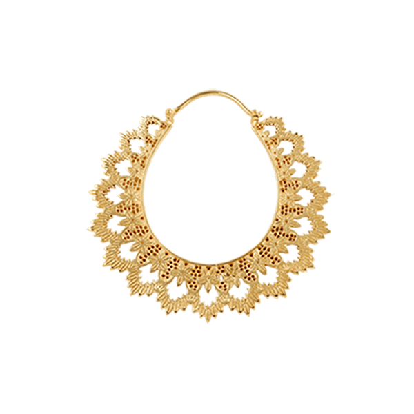 Yellowgold Hoop Earring