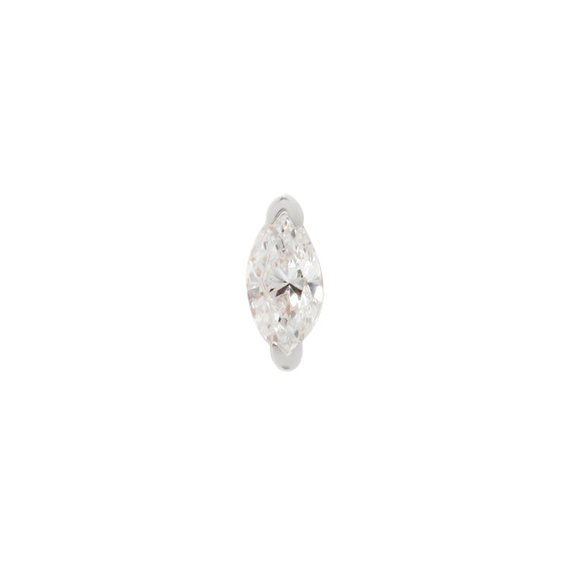 Threadless Zuri CZ white gold jewelry
