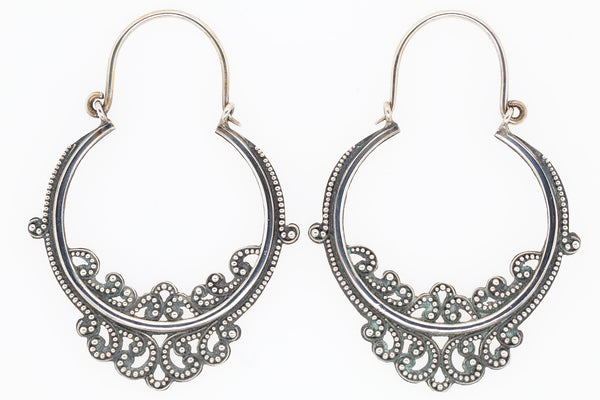 Victorian solid silver earrings