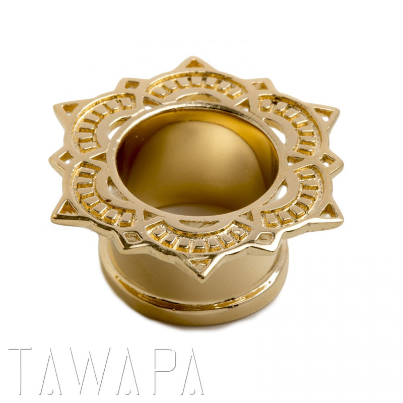 Yellow Gold Single Flared Eyelet for Stretched Ears