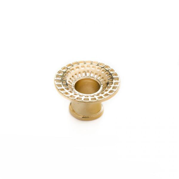 Textured Yellow Gold Eyelet for Stretched Ears