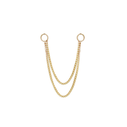 Double box chain in yellow gold