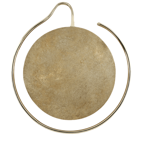 Yellow Gold Hoop Earring Maya Jewelry