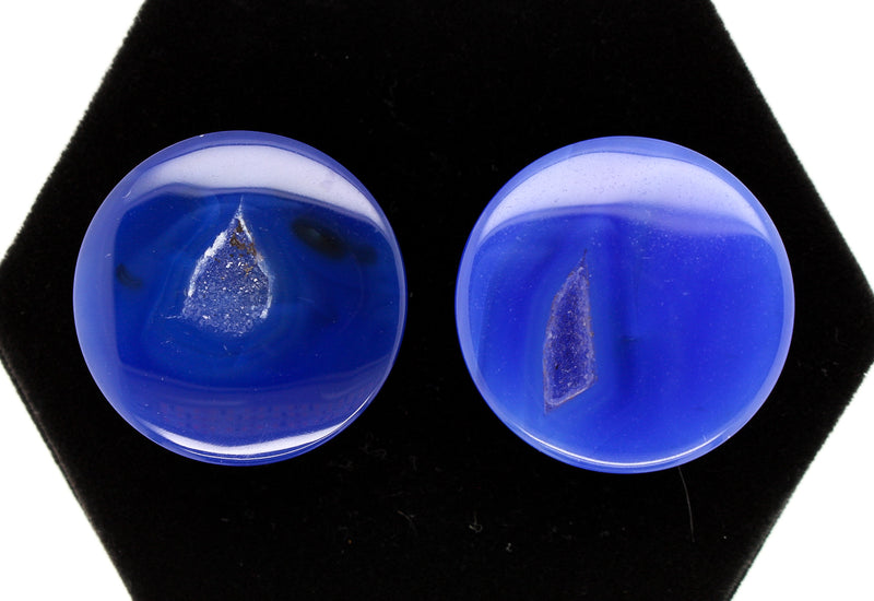 Blue Agate Druzy Window Plugs