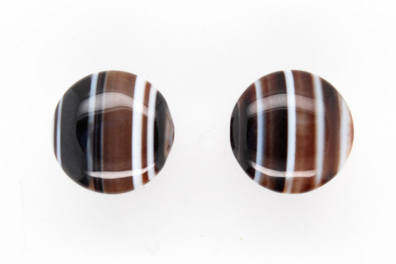 Black Tibetan agate plugs