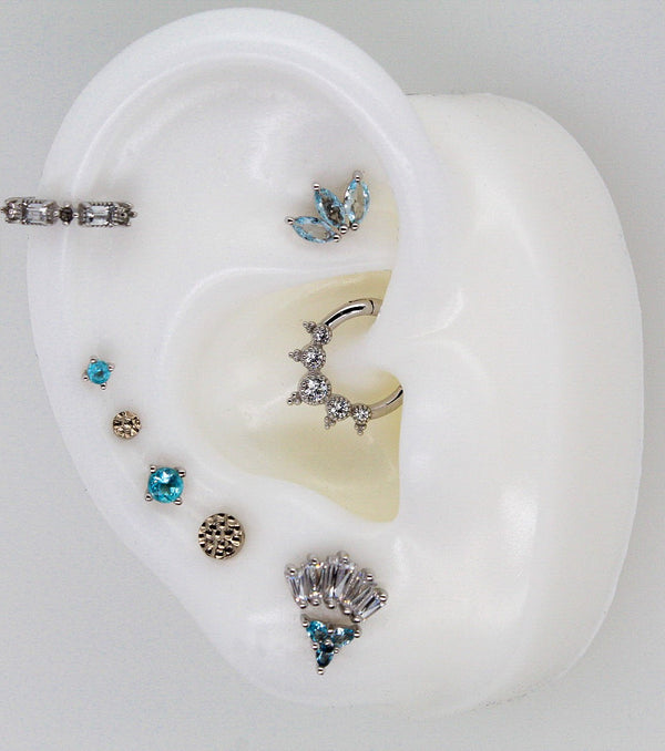 White gold curated ear