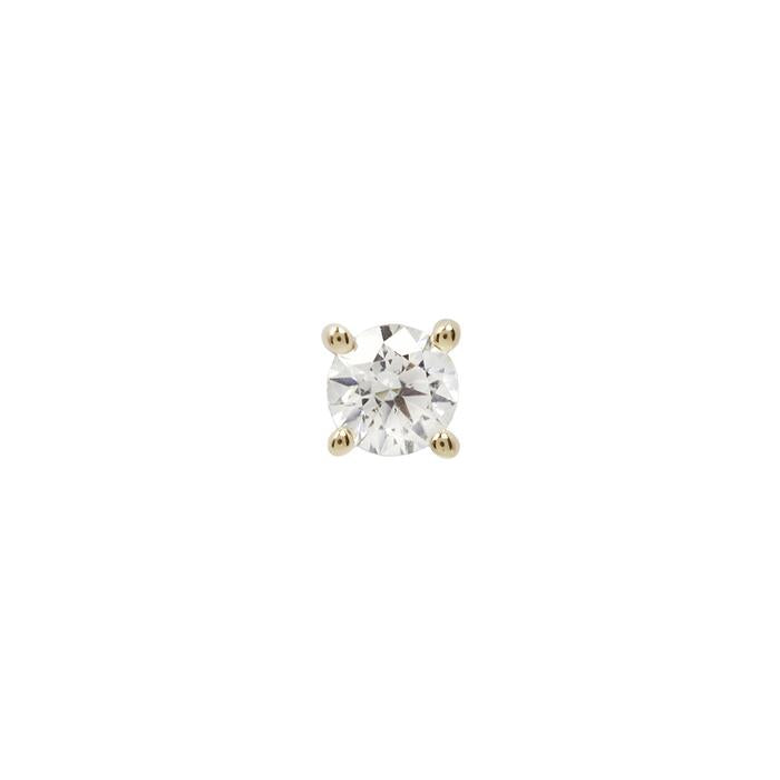 Yellow gold prong CZ
