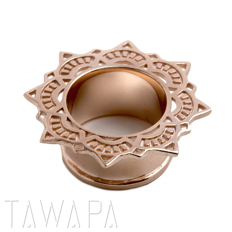 Rose gold Single Flared Eyelet for Stretched Ears