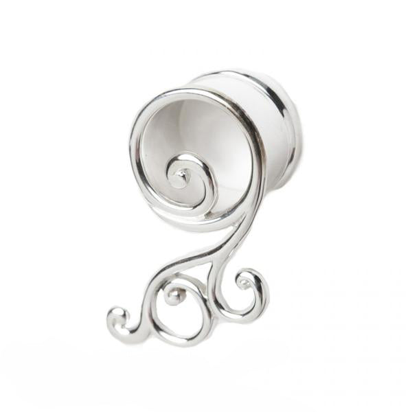 Silver Hanging Eyelet for Streched Ears
