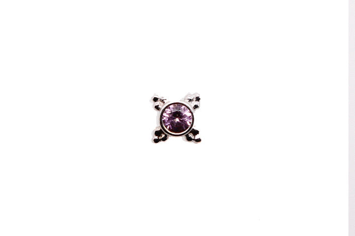 White gold light pink sapphire Mini Kandy