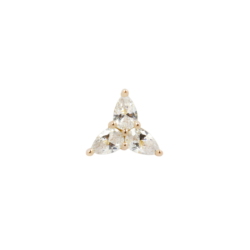 Yellow gold CZ 3 little pears