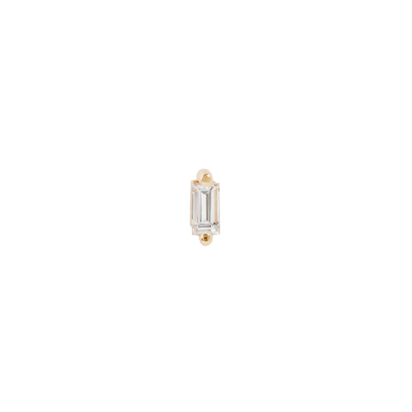 Yellow gold Paris prong baguette by Buddha Jewelry