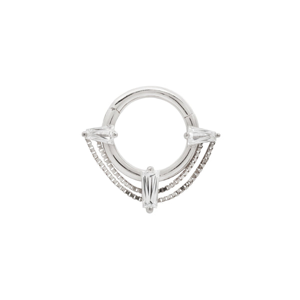 White Gold Septum Ring