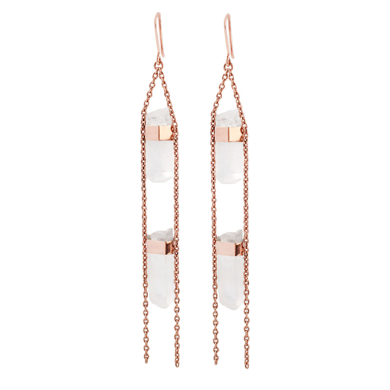 2 Chainz Crystal Quartz Earring