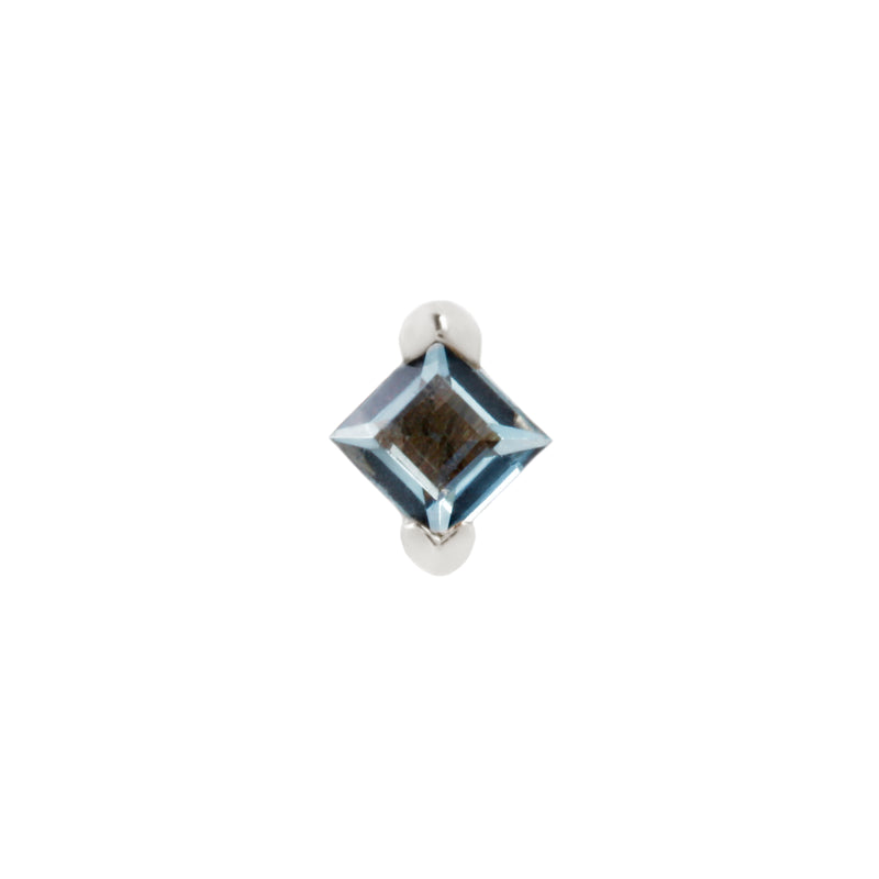 White gold with london blue topaz
