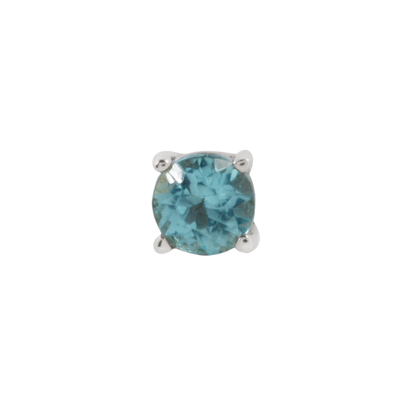 White gold Apatite prong by Buddha Jewelry