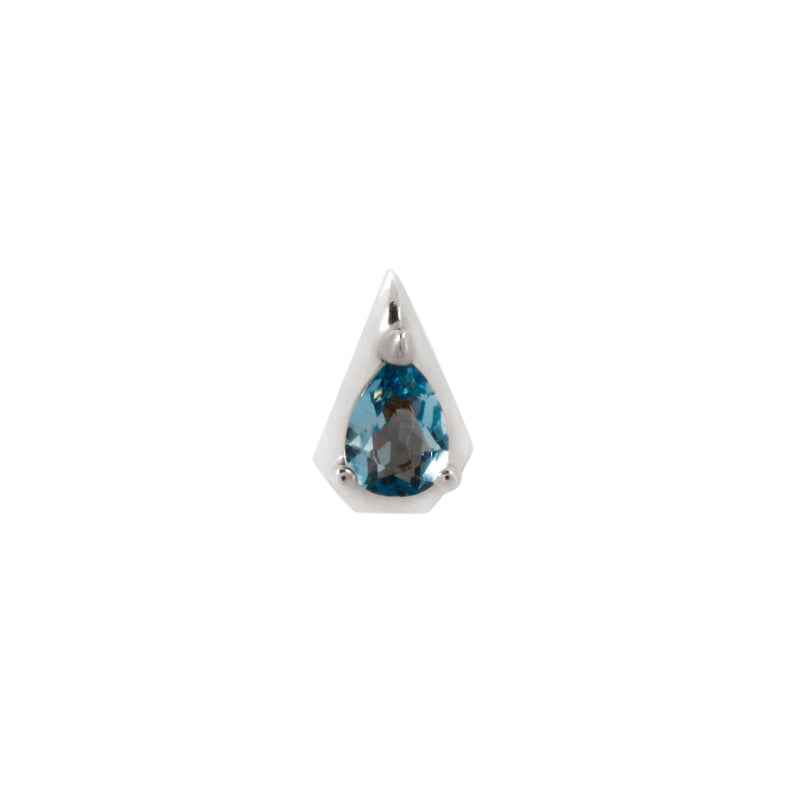 White gold Alaia with London Blue Topaz by Buddha Jewelry