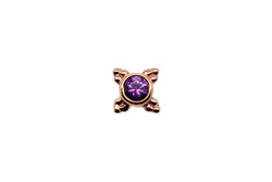 Rose gold mini kandy with Amethyst and beaded detailing