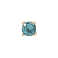 Yellow gold Apatite prong by Buddha Jewelry