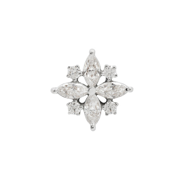 White gold CZ cluster