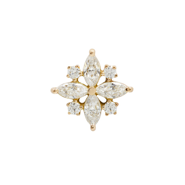 Yellow gold CZ cluster