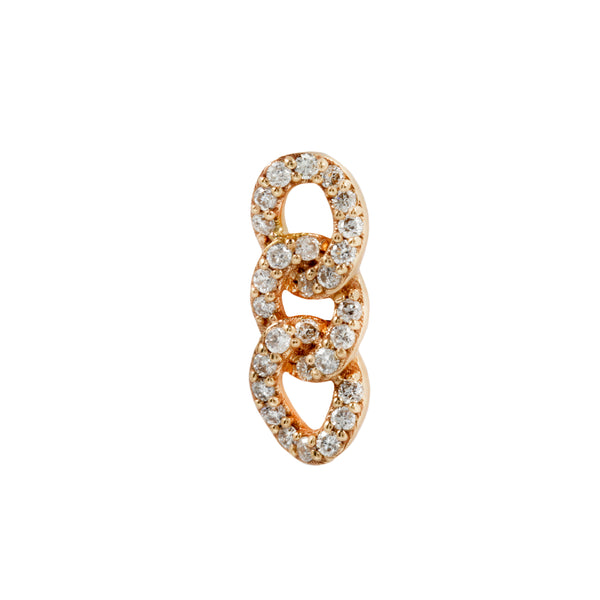 Yellow gold Chainlink genuine diamonds by Buddha Jewelry