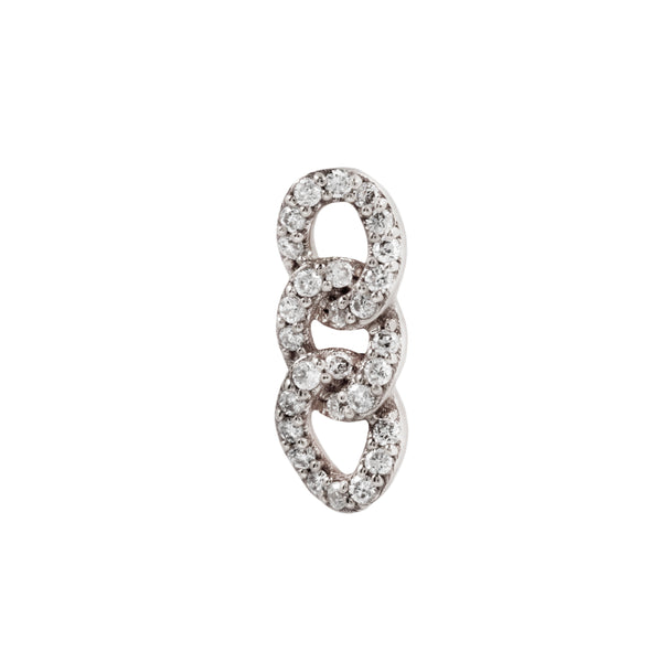 White gold Chainlink genuine diamonds by Buddha Jewelry