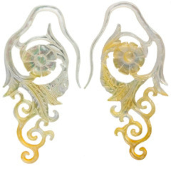 Mother of Pearl Organic Earrings