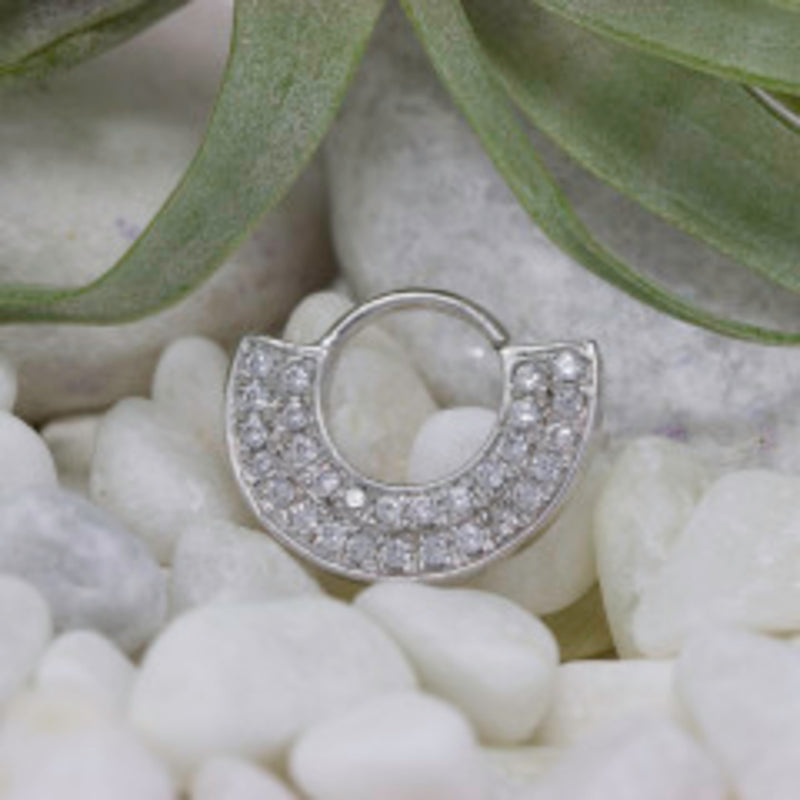 Piercing Ring with CZ's
