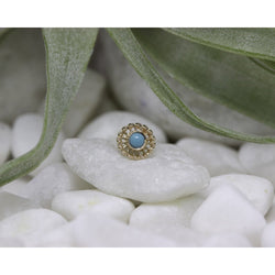 Anatometal Threadless Virtue Turquoise 2.0 mm
