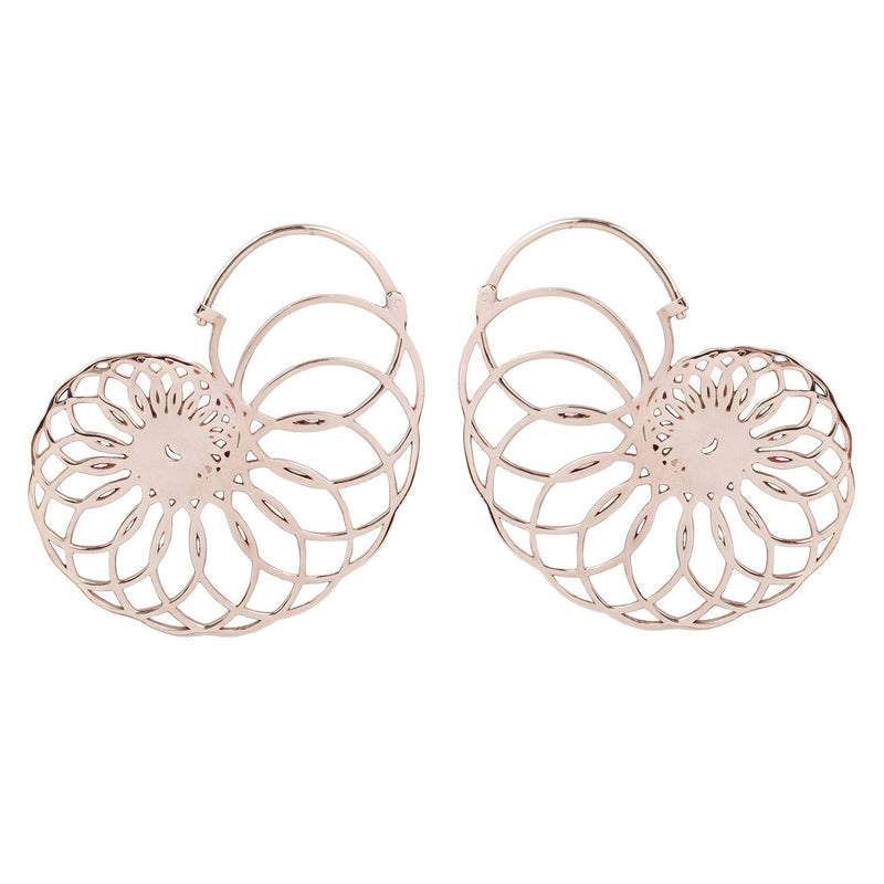 Rose Gold Shell Style Earrings