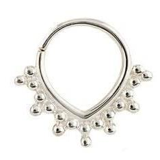 White Gold Ring for Piercings
