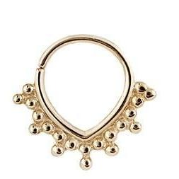 Yellow Gold Ring for Piercings