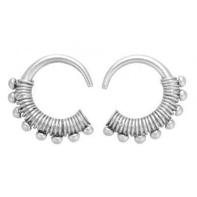 White Brass Earrings