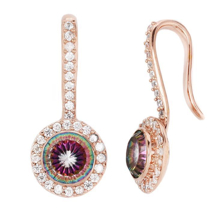 Buddha Brilliant CZ with Mystic Topaz Plated Rose Gold Weight 6g