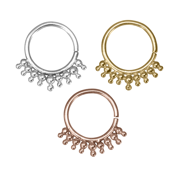 Solid Gold Rings for Piercings