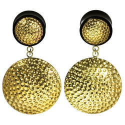 Textured Brass Plugs for Streched Ears