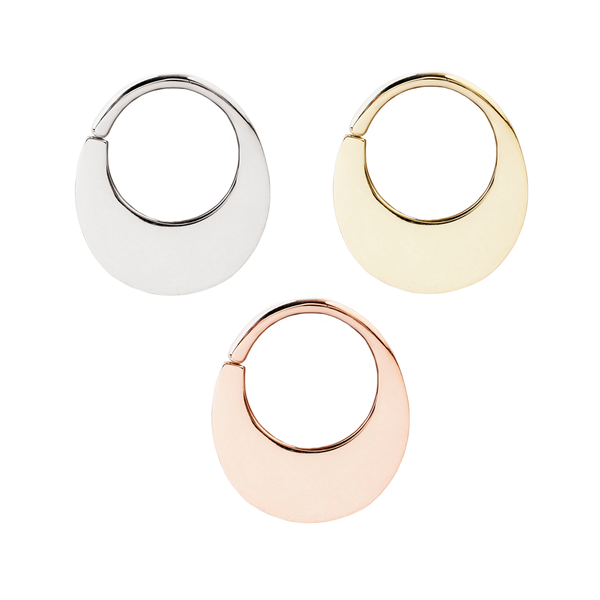 Solid Gold Seamless Rings for Piercings