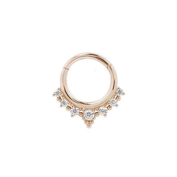 Rose gold CZ clicker