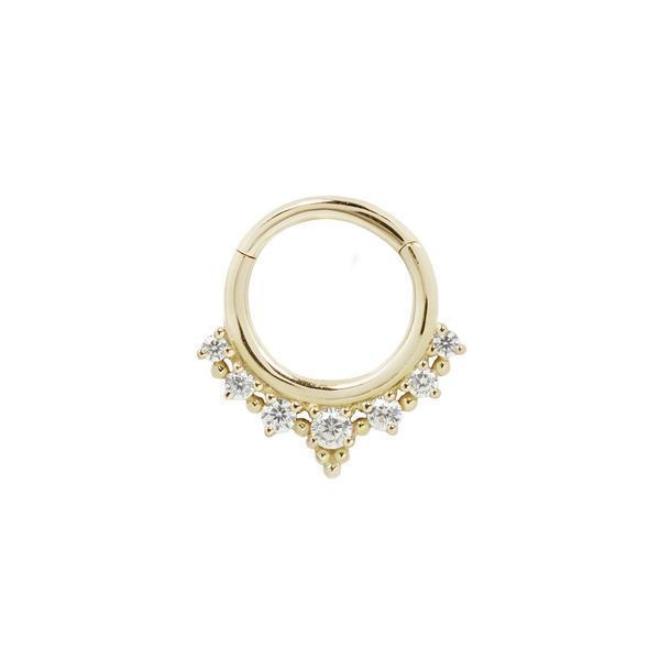 Yellow gold CZ clicker