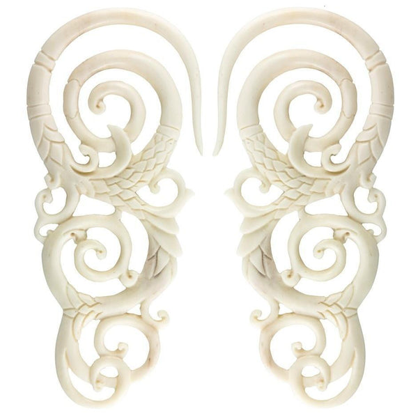 Organic Bone Earrings for Stretched Ears