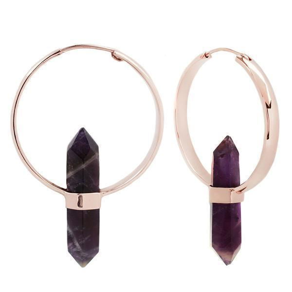 Buddha Mini Alchemy Amethyst Earring 16g