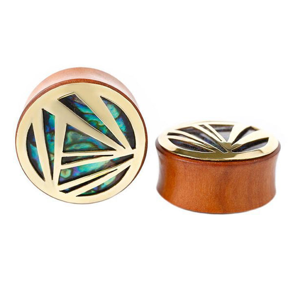 Modern Abalone Plugs for Stretched Ears